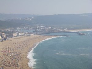 View from the top over Nazare