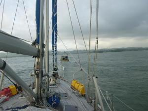Fishing boat tows us into Livingston